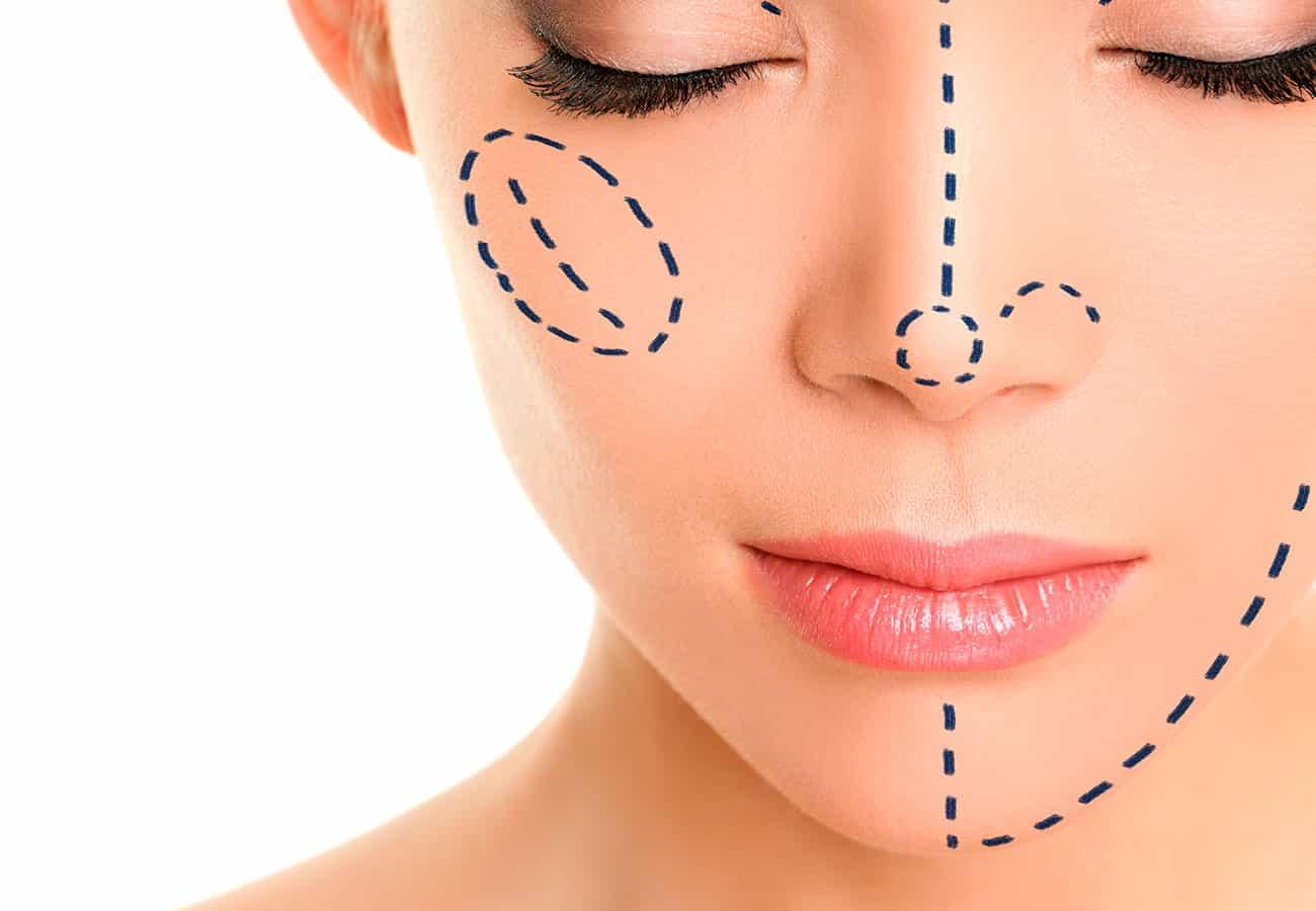 Cirugía de nariz y aumento de mentón